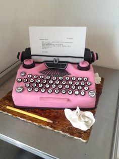 Typewriter cake!