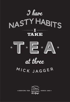 Mick Jagger tea