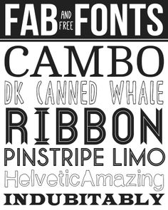 Free Fab Fonts - this a great collection of free fonts!