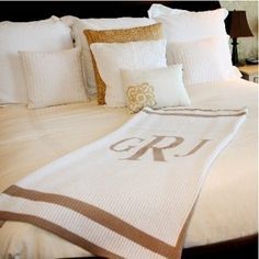 Personalized and Monogrammed Knit Blankets