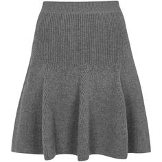 Womens Mini Skirts Alexander McQueen Grey Ribbed Knit Wool Skirt ($610) ❤ liked on Polyvore featuring skirts, mini skirts, gray skirt, grey wool skirt, short grey skirt, grey skirt and woolen skirt