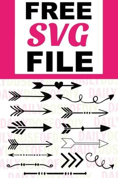 Free Arrow SVG Files -Set of 14 grab this free svg files for cricut or silhouette cutting machines. The SVG file includes 12 arrows and two tribal dividers Cricut Svg Files Free, Free Svg Cut Files, Free Cricut Fonts, Image Svg, Cricut Tutorials, Cricut Ideas, Arrow Svg, Stencils, Monogram