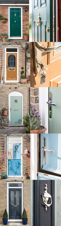 Beautiful doors to make any entrance look its very best. Choose from a wide range of features, colours and finishes. Front Door Colors, Front Doors, Cottage Renovation, Flat Ideas, House Numbers, House Front, Door Ideas, House Projects, Doorway