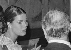 Princess Caroline, godmother in the wedding ceremony of Diane de Polignac and Carlos Augusto Nigra, talks with a guest, in Madre de Deus church, Lisbon.September 3,1977.MANUEL MOURA / LUSA PRT LISBON LUSA © 2007 LUSA - Agência de Notícias de Portugal, S.A.