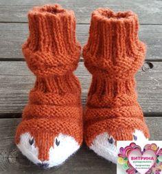Baby Booties Knitting Pattern, Baby Hats Knitting, Knitting For Kids, Baby Knitting Patterns, Knitting Socks, Knitting Projects, Crochet Projects, Knitted Slippers, Wool Socks