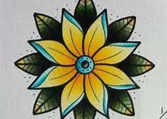 old school tattoo flowers - Bing Images