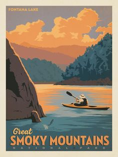 Anderson Design Group – American National Parks – Great Smoky Mountains National Park: Fontana Lake