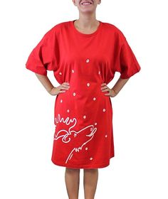 Amy Alder Moose Night Shirt Nightgown Sleep Shirt Pajamas Womens Sleepwear. So cute and comfy! Also available in Black at GuyGifter.com.