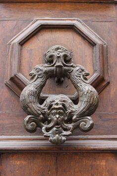 Roosters ~ Old door knocker