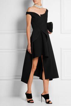 Stella McCartney|Reily cutaway embellished wool-blend crepe midi dress|NET-A-PORTER.COM