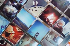 little square photos in coin pockets