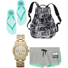 Untitled #73 by evanmonster on Polyvore featuring polyvore fashion style Victoria's Secret PINK Victoria's Secret MICHAEL Michael Kors