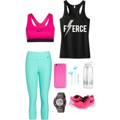 Workout in style by akb4572 on Polyvore featuring polyvore, fashion, style, NIKE, Freestyle, Kate Spade, Merkury Innovations and Brita