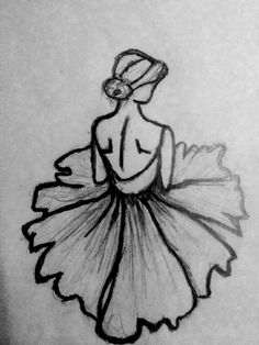 More ideas about this Fairy Drawings, Dancing Drawings, Girl Drawing Sketches, Art Drawings Sketches Simple, Pencil Art Drawings, Cute Drawings, Pencil Drawing Inspiration, Art Sketchbook, Sketching