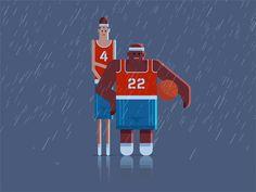 Street basketball dribbble