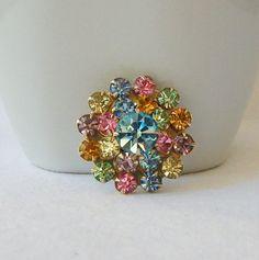 Vintage  Pink Flower Brooch Vintage Jewelry by VintageSundries