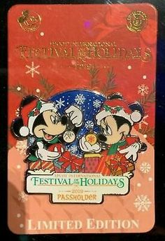 Find many great new & used options and get the best deals for 2019 Epcot Festival of the Holidays Passholder Mickey & Minnie Disney Pin Limite at the best online prices at eBay! Free shipping for many products!
