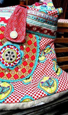 Tasche, Messengerbag, selber nähen, Schnittmuster und Anleitung