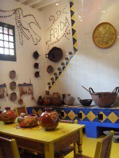 """Image links to virtual tour of """"Casa Azul"""", Frida's home~Courtesy of Museo de Frida Kahlo."""