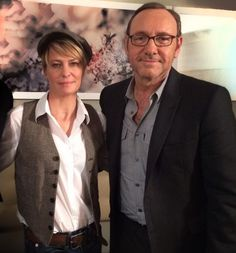 Chasing Spacey • Kevin Spacey and Robin Wright. I love this photo....