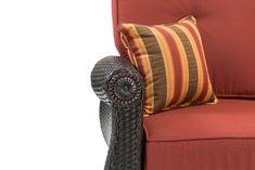 a3a1c739328 LaZBoy Outdoor Breckenridge 3 Piece Resin Wicker Patio Furniture Set Brick  Red  2 Swivel Rockers