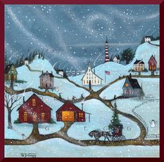 Snow Day A small School House Snow Storm by ChicorySkies on Etsy, $12.75