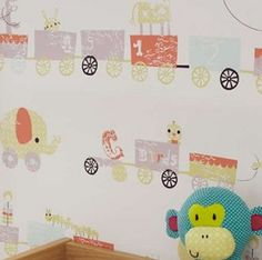 Jamboree wallpaper,a fun and colorful designed wallpaper #room #decorations