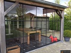 Pavillion, Marquise, House Extensions, Patio Doors, Glass House, Pool Houses, Garden Inspiration, Interior And Exterior, Pergola