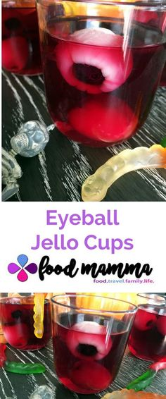 The eyeball jello cups are perfect for Halloween! Perfect for your spooky party. Spooky Food, Halloween Drinks, Halloween Desserts, Halloween Food For Party, Halloween Cookies, Halloween Ideas, Jello Cups, Holiday Recipes, Holiday Foods