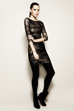#autumndreamery - Autumn colours with Very Very Chichi Bronze Lace Cocktail Dress @ the-dreamery.com $209