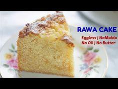 Eggless Rava Cake in Pressure Cooker sooji cake semolina cake no butter no oil crazy cake no maida Healthy Cake Recipes, Baking Recipes, Sweets Recipes, Vegetarian Recipes, Desserts, Semolina Cake, Microwave Cake, Indian Dessert Recipes, Indian Recipes