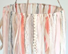 Ribbon Mobile Baby Ribbon & Lace Mobile pink and ivory baby mobile baby girl mobile hanging decor crib mobile nursery Little Girls Room Baby Crib Decor Girl Hanging Ivory lace Mobile Nursery pink ribbon Cool Baby, Baby Love, Fantastic Baby, Baby Band, Girl Nursery, Nursery Decor, Project Nursery, Nursery Room, Nursery Ideas