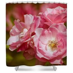Pink Spring Roses Photo Art Shower Curtain, Nature Shower Curtain,... ($79) via Polyvore featuring home, bed & bath, bath, shower curtains, multi color shower curtains, multi colored shower curtains, colorful shower curtains and pink shower curtains