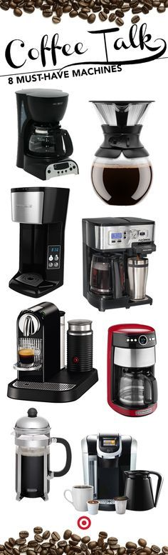 No matter how much caffeine you need to get going in the morning, Target has the perfect machine for you. Consider us your barista bestie; your caffeine confidant; your mocha match-maker.