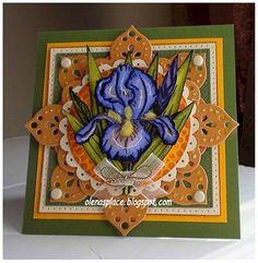 Heartfelt Creations | Blue Dutch Iris Card
