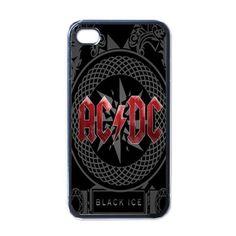 Apple iPhone Case - AC DC Black Ice Rock Band Logo - iPhone 4 Case