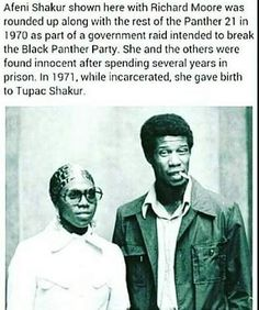Afeni Shakur - Actually gave birth to Tupac just 1 month after  being released from prison