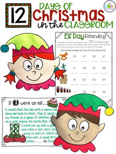 A full day of elf themed activities for the classroom.