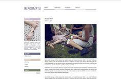 Modern Clean Premade Blogger Blog Theme - Impromptu