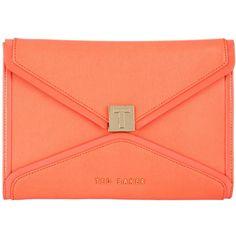 Ted Baker Ashh Clutch Bag , Light Orange ($155) found on Polyvore