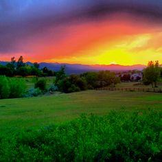 Colorado sunset. Purple mountain majesties.