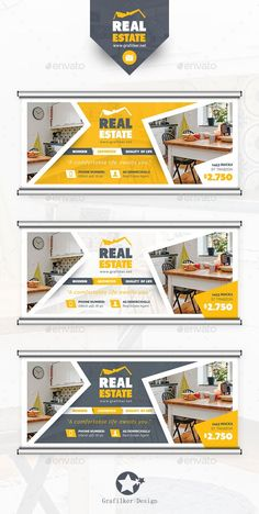 Real Estate Billboard Template PSD, InDesign INDD #design Download: http://graphicriver.net/item/real-estate-billboard-templates/14474226?ref=ksioks