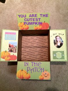 Fall care package Fall Care Package, Navy Life, Cute Pumpkin, Love You, Packaging, Ideas, Te Amo, Je T'aime, I Love You