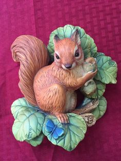 Vintage 1966 Bossons England Squirrel Chalkware Wall Hanging.