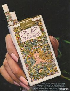 Eve slender, circa 1970's ad, for the lady smoker.