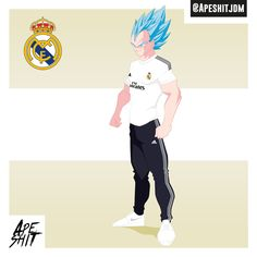 #Dragonball #realmadrid #vegeta #soccer #Dbz #football #pink #Cartoon #saiyan #manga #classic #warrior #ready #championsleague #champions #league #power #adidas #nike #posing #characters #design