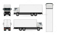 Delivery truck template