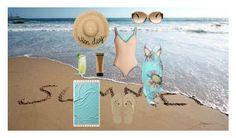 """Summer beach day"" by luisa6 on Polyvore featuring moda, kiini, John Robshaw, Eugenia Kim, Louis Vuitton, Havaianas y St. Tropez"
