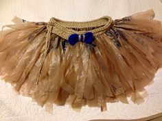 Toddler tutu Crocheted waist with skirt made from plastic shopping bags. For sell