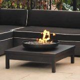 Lovely square fire pit with fire bowl